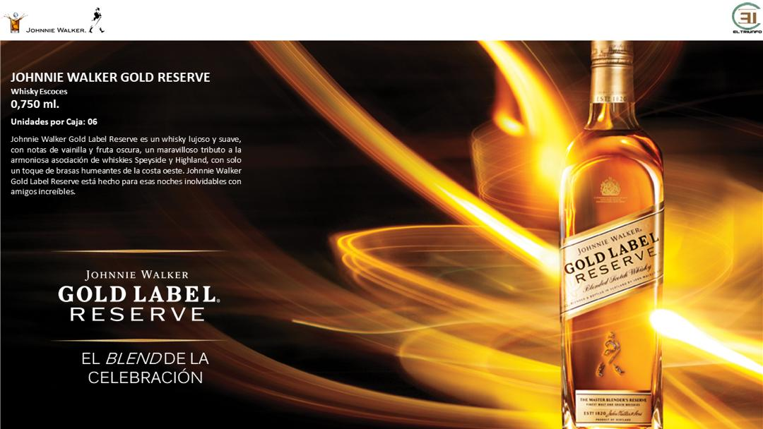 El Triunfo CA Venezuela, JW, JW Gold Label, Gold Label, GL, JW GL, Johnnie Walker