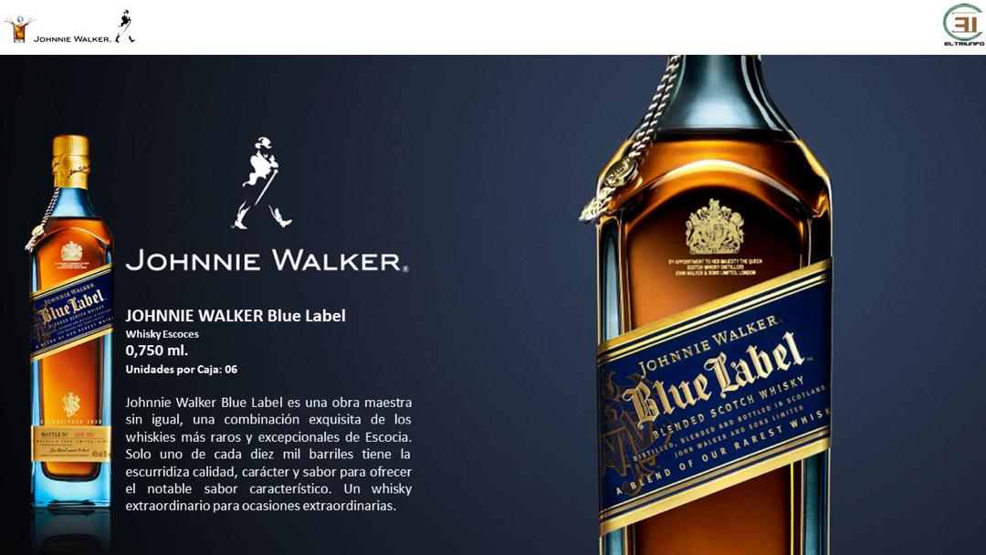 El Triunfo CA Venezuela, JW, Johnnie Walker Blue Label, Blue Label, JWBL, Blue, JW Blue Label